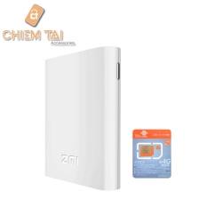 Hình ảnh Bộ phát wifi từ sim 3G, 4G kiêm pin sạc dự phòng 7800 mA Xiaomi ZMI MF855