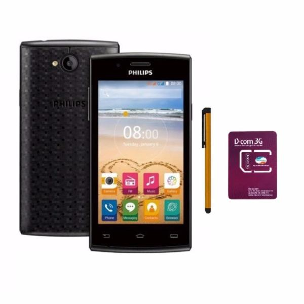 Bộ Philips S307 4GB 2 Sim (Đen viền Xám) - Hãng phân phối chính thức + Bút cảm ứng Stylus Touch 1 đầu Pen-x + Sim Viettel