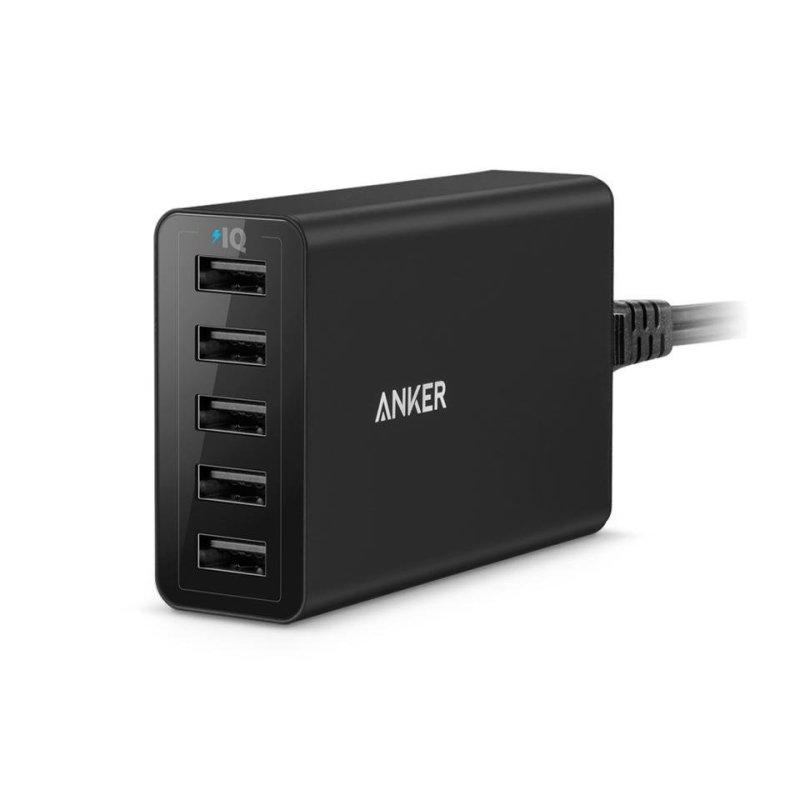 Bộ sạc 5 cổng ANKER PowerPort 5 A2124L11 (Đen)