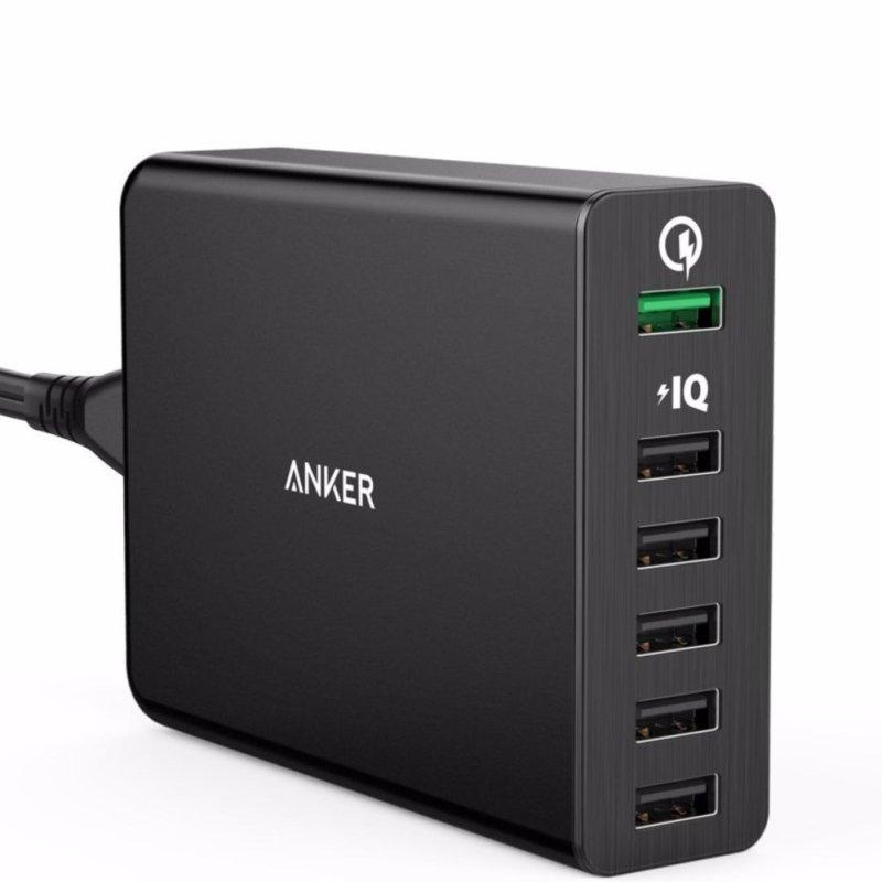 Bộ sạc Anker Powerport+ 6 with Quick Charge 2.0 Black (Màu Đen)(Đen)