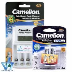 Bán Bộ Sạc Camelion 1012 Kem 2 Pin Aa 2700Mah Nhập Khẩu