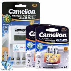 Cửa Hàng Bán Bộ Sạc Camelion 1012 Kem 4 Pin Aa 2700Mah