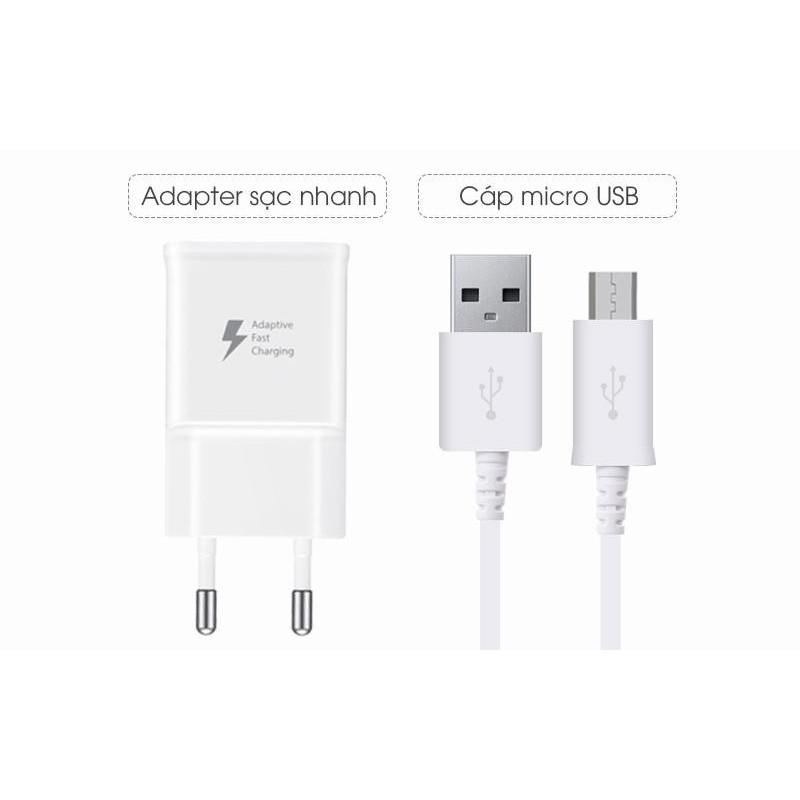 Giá Bộ sạc nhanh + Cáp Micro USB 1,5m cho Samsung Galaxy J7 Pro (Trắng) - Hàng nhập khẩu