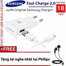 Bộ sạc nhanh Fast Charge Samsung Galaxy 2017 + Tặng tai nghe nhét tai Philips