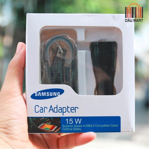 Bộ sạc nhanh trên xe oto cho Samsung Galaxy S6 S7 Note5 (Trắng) QuickCharge 2.0