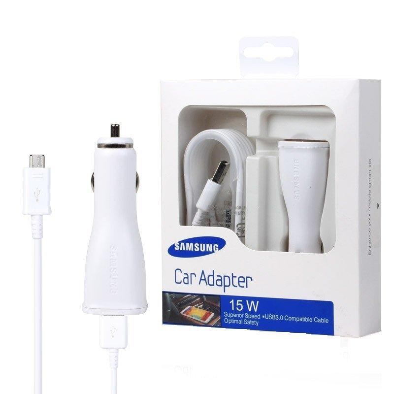 Bộ sạc nhanh trên xe ôtô cho Samsung Galaxy S7 edge (Trắng) - Hàng nhập khẩu