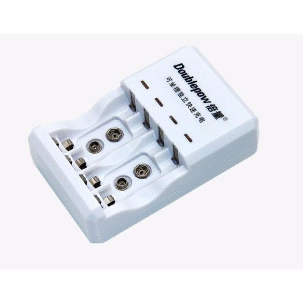 Bộ Sạc Pin đa năng Doublepow DP-D03 (sạc pin 9V, pin tiểu AA, pin đũa AAA )