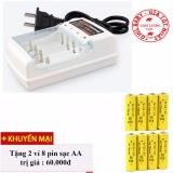 Bộ sạc pin xe điều khiển dùng pin AA, AAA + Tặng 8 pin sạc AA