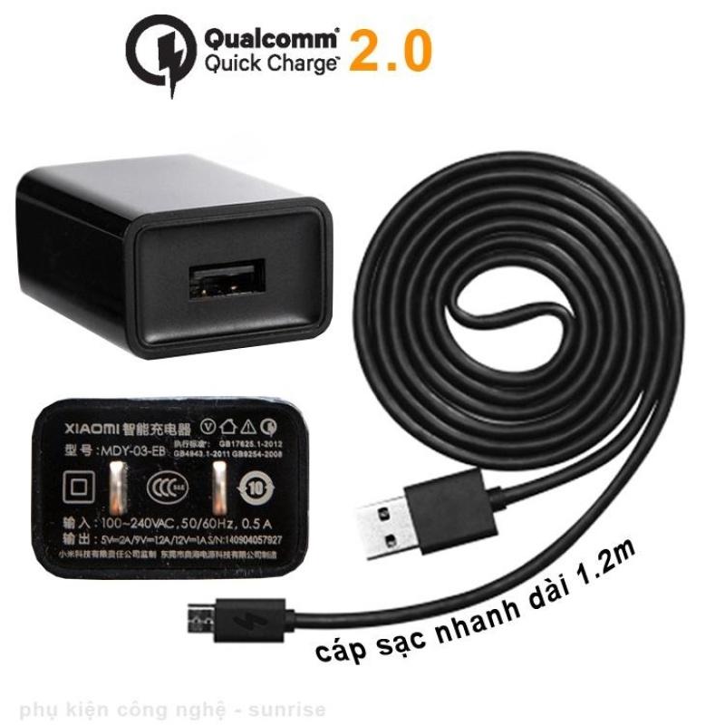 Bộ sạc Quick Charge 2.0 cho Xiaomi - Cổng Micro USB (MDY03EB)