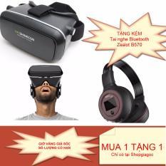 Hình ảnh Bộ sản phẩm xem film 3D hoàn hào trên điện thoại: Kính thực tế ảo Shinecon + Tặng kèm tai nghe Bluetooth Zealot B570 âm thanh cực hay