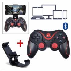 Hình ảnh Bộ tay cầm chơi game không dây Bluetooth + Tặng giá đỡ điện thoại