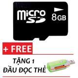 Bộ Thẻ Nhớ Micro Sd Memory Card 8Gb Đen Tặng 1 Đầu Đọc Thẻ Mới Nhất