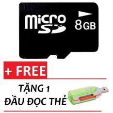Bán Bộ Thẻ Nhớ Micro Sd Memory Card 8Gb Đen Tặng 1 Đầu Đọc Thẻ Trong Hồ Chí Minh