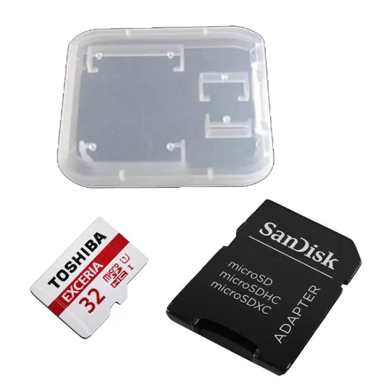 Bộ Thẻ nhớ Micro SDHC Toshiba 32GB class 10 UHS-I 48MB/s thẻ tray + Adapter + Hộp đựng thẻ
