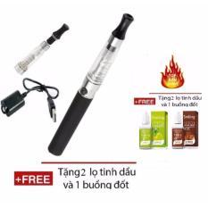Bộ thuốc lá điện tử Shisha Cao Cấp EGO CE4 + Tặng kèm 2 tinh dầu + 1 buồng đốt + 1 đầu hút (Black) Nhật Bản