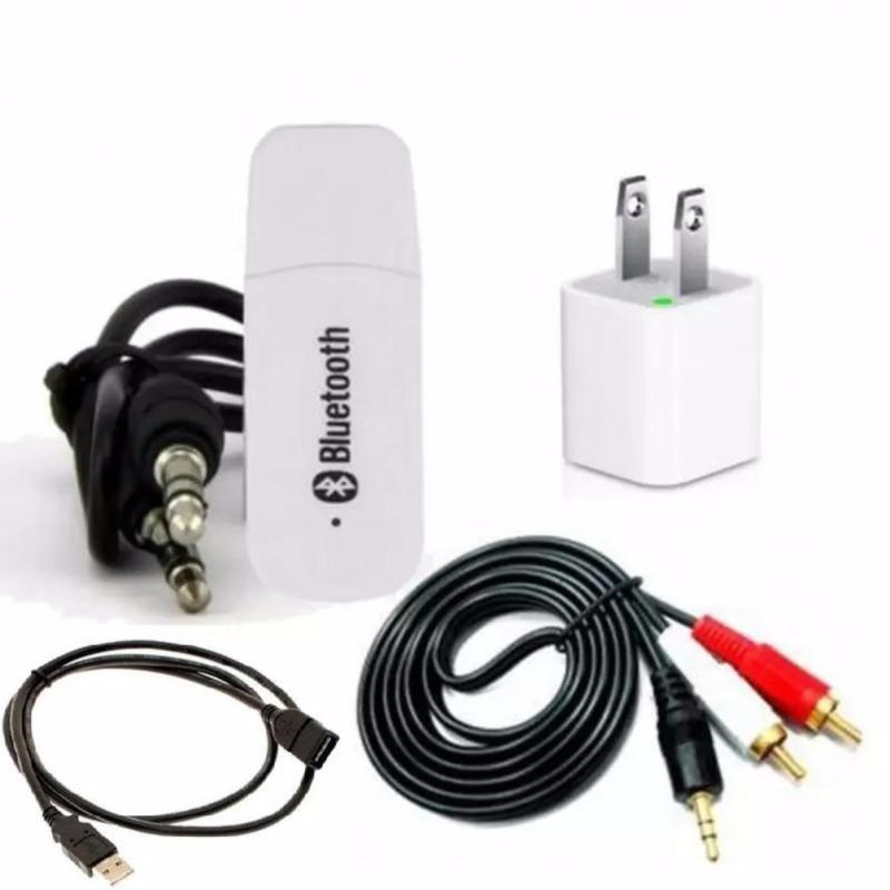Bộ USB Bluetooth Wireless DMZMusic Receiver thúy vy tạo kết nối bluetooth cho amply và loa (Trắng)