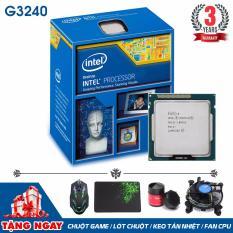 Bộ vi xử lý Intel CPU Pentium G3240 3.1 GHz (2 lõi, 2 luồng) + Quà Tặng - Hàng Nhập Khẩu