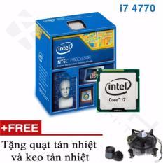 Hình ảnh Bộ xử lý Intel Core i7-4770 3.4 GHz up to 3.9GHz, 4 lõi, 8 luồng, Bus 1333/1600, Cache 8MB, Socket 1150 - Tặng quạt + keo tản nhiệt