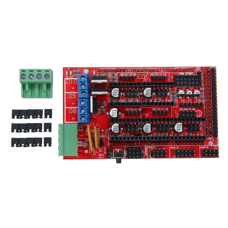 Bảng giá Boobc Robotale RAMPS 1.4 Reprap MendelPrusa 3D Máy In Bảng Mạch Điều Khiển-Đỏ + Đen ARD0007-quốc tế Phong Vũ