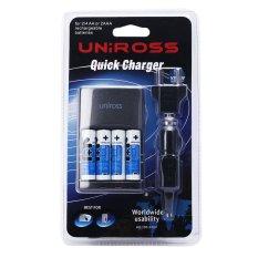 Ôn Tập Tốt Nhất Bộ Sạc Nhanh Va 4 Pin Aa 2700Mah Uniross U0230537 Đen