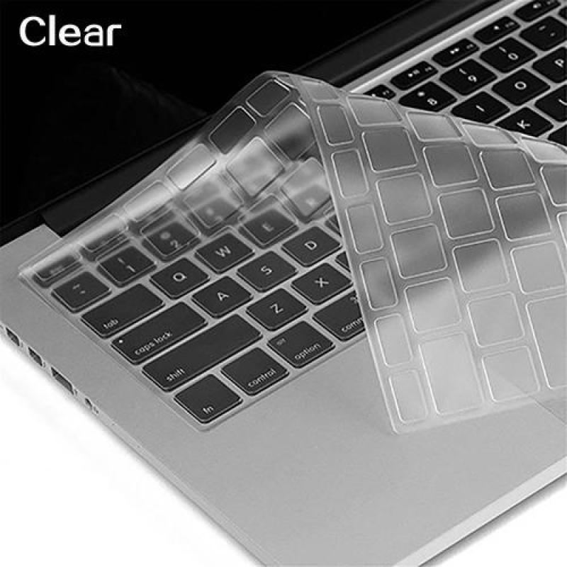 Broadfashion Nhiều Màu Sắc Mềm Bàn Phím Silicon cho Apple Macbook Air Pro Phiên Bản HOA KỲ Laptop Air/Pro 13 15 17 (trong suốt) -quốc tế