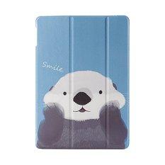 Buildphone Da Pu Thong Minh Hoạt Hinh Lật Miếng Lot Cho Apple Ipad Mini 4 Xanh Dương Quốc Tế Trung Quốc