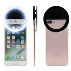 Hình ảnh BUYINCOINS Cao Cấp Sáng Selfie Flash Máy Ảnh Điện Thoại Vòng LED Cho Điện Thoại Thông Minh (Màu Đen)-quốc tế