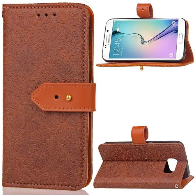 BYT Euro Mural Leather Flip Cover Case for Samsung Galaxy S6 Edge - intl