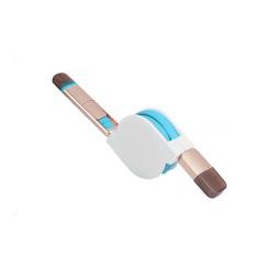 Giá Bán Cable Sạc 2 Đầu Day Rut Cổng Microusb Va Lightning Xanh Biển Hongkong Electronics Trực Tuyến