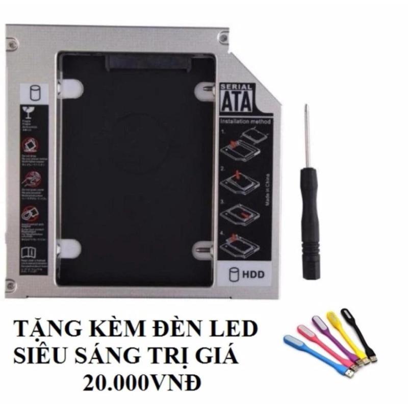 Bảng giá Caddy Bay SATA 3.0 9.5mm gắn thêm ổ cứng cho Laptop tặng đèn led usb siêu sáng Phong Vũ