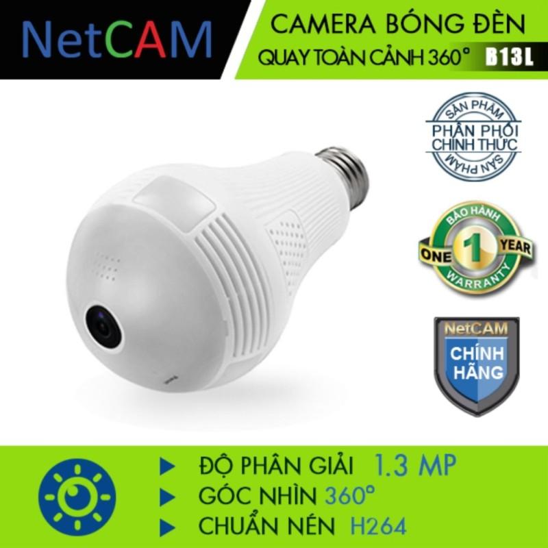 CAMERA BÓNG ĐÈN QUAY TOÀN CẢNH 360 ĐỘ NETCAM  B13L 1.3M