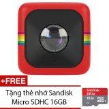 Chiết Khấu Camera Hanh Động Polaroid Cube Đỏ Tặng Thẻ Nhớ Sandiskmicrosdhc16Gb