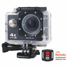 Cửa Hàng Camera Hanh Động Waterproof 4K Sports Wifi 4K Ultra Hd Dv Kem Remote Đen Trực Tuyến