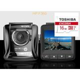 Camera Hanh Trinh Oto Xe Hơi Hang Hp F360 Xịn Va Thẻ 16G Toshiba Mới Nhất