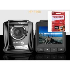 Camera Hanh Trinh Oto Xe Hơi Hp Mỹ F360 Va Thẻ Toshiba 32G Toshiba Xịn Hà Nội Chiết Khấu 50