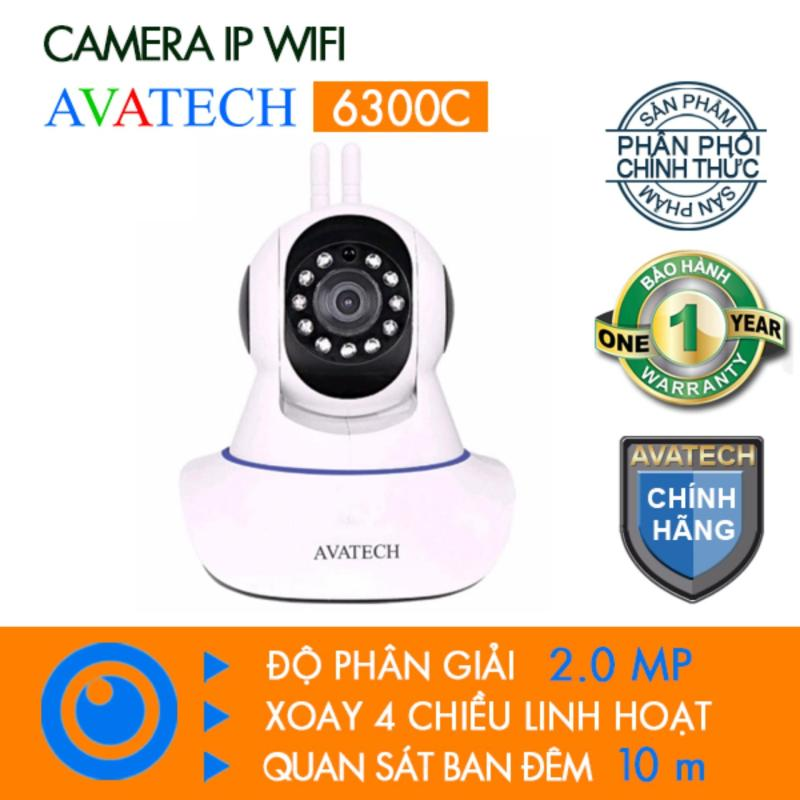 Camera IP AVATECH 6300C Full HD 1080P Trắng