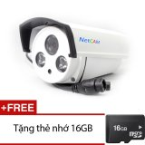 Bán Camera Ip Giam Sat Hồng Ngoại Netcam Nc 208Ip 1 Trắng Tặng 1 Thẻ Nhớ Micro Sd 16Gb Nhập Khẩu