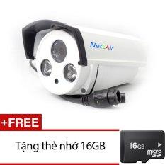 Chiết Khấu Sản Phẩm Camera Ip Giam Sat Hồng Ngoại Netcam Nc 208Ip 1 Trắng Tặng 1 Thẻ Nhớ Micro Sd 16Gb