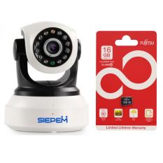 Mua Camera Ip Wifi 3G Siepem S6203Y Trắng Thẻ Nhớ Fujitsu 16Gb Mới Nhất