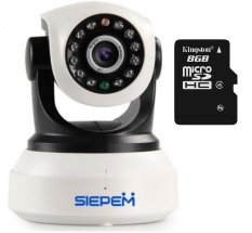 Chiết Khấu Camera Ip Wifi 3G Siepem S6203Y Trắng Thẻ Nhớ Kingston 8Gb Vietnam