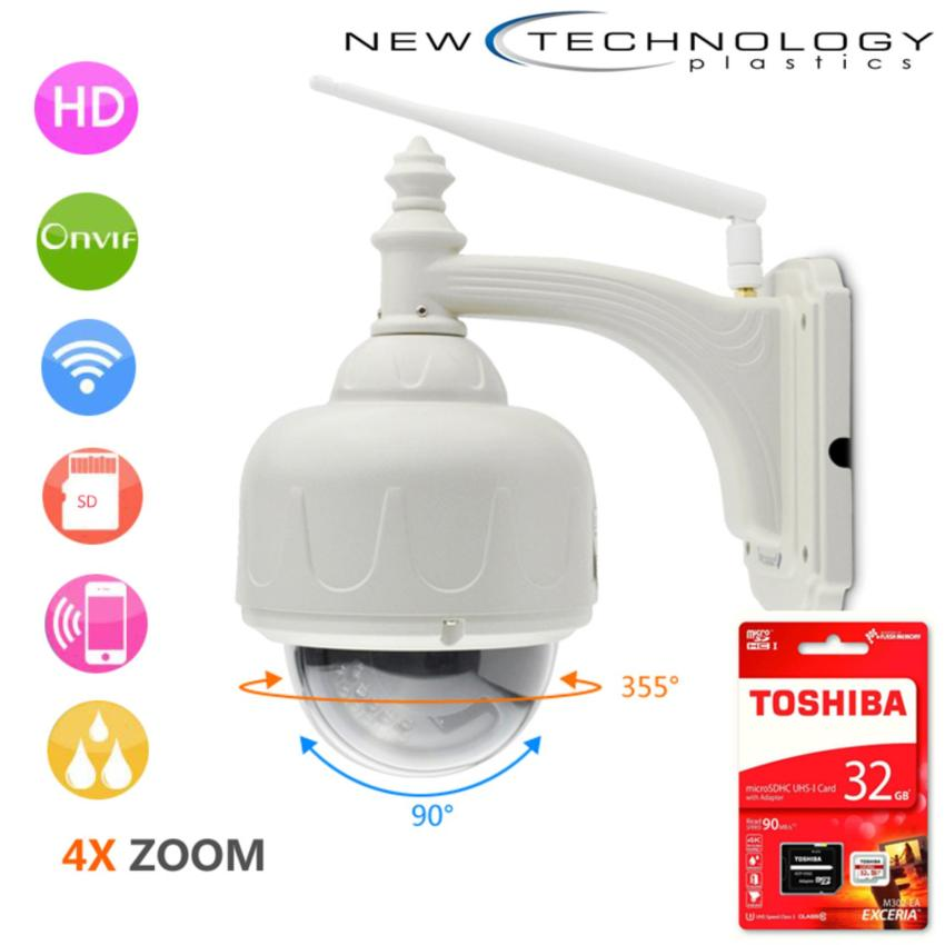 Chiết Khấu Camera Ngoai Trời Chống Nước Vstarcam Zoom 4X Cao Cấp Va Thẻ Toshiba 32G Vstarcam