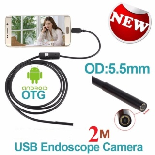 Camera nội soi chống nước(IP67) siêu nhỏ 5.5mm dài 2m cho Máy tính và Điện thoại thumbnail
