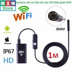 Hình ảnh Camera nội soi độ nét cao HD720p phát Wifi dây dài 1m cho điện thoại Iphone,Android,Laptop,PC