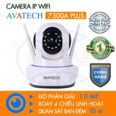 Camera Quan Sat Ip Wi Fi Avatech 7300A Plus 2 Ăngten 720P 1 Trắng Avatech Chiết Khấu