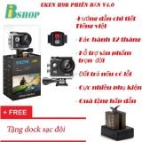 Giá Bán Camera Thể Thao Eken H9R 4K Ultra Hd Wifi Co Remote Phien Bản Mới Nhất 4 Tặng Dock Sạc Đoi Bảo Hanh 12 Thang Eken Nguyên