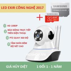 Bán Camera Wifi Giam Sat Trong Nha Sieu Net Full Hd 1920X1080P Mới Nhất 2017 Kem Thẻ Samsung Evo 32G Bảo Hanh 5 Năm Có Thương Hiệu