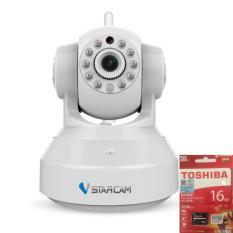 Giá Bán Camera Wifi Vstarcam Hd720 Loại Mới Va Thẻ 16Gb Toshiba Nhãn Hiệu Vstarcam