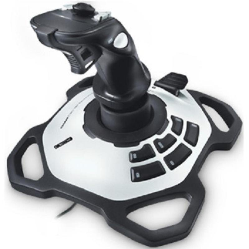 Cần lái Game Logitech JOYSTICK EXTREME ATTACK 3D (Đen phối xám bạc)