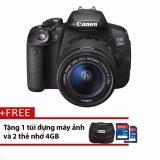 Giá Bán Canon 700D 18Mp Với Lens Kit 18 55Mm Is Stm 18Mp Đen Tặng 1 Tui Đựng May Ảnh Va 2 Thẻ Nhớ 4Gb Hang Phan Phối Chinh Thức Canon Trực Tuyến