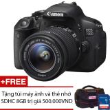 Giá Bán Canon Eos 700D 18 0Mp Với Lens Kit Ef S 18 55Mm Is Stm Đen Hang Chinh Hang Lbm Tặng Tui May Ảnh Va Thẻ Nhớ Sdhc 8Gb Canon Nguyên